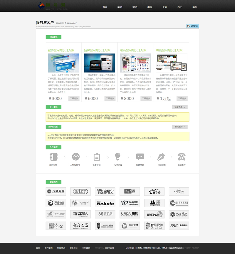 HTML5网络公司整站织梦模板
